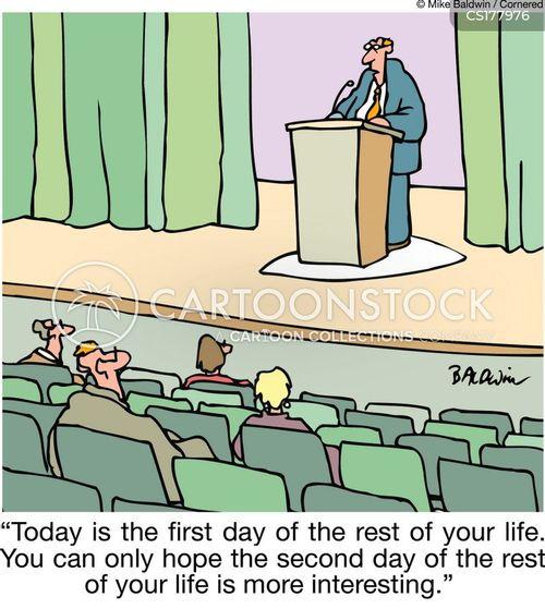 first day cartoon