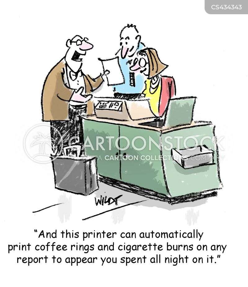 coffee rings cartoon
