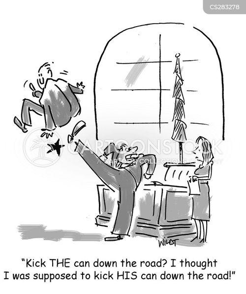delaying tactics cartoon