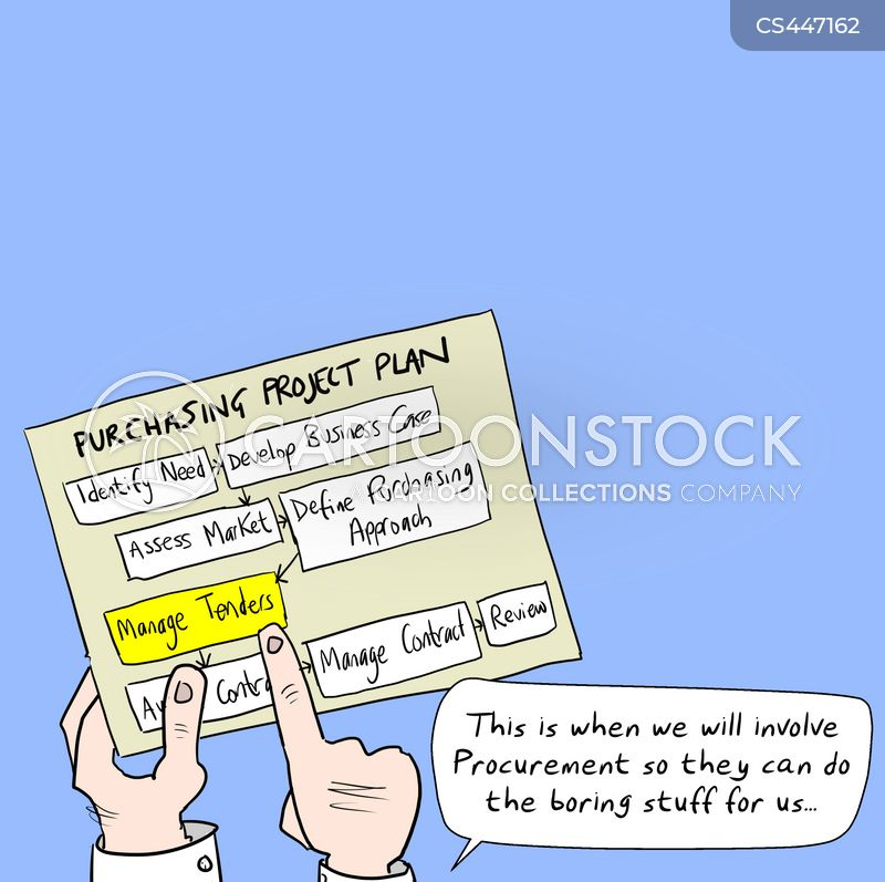 procurement department cartoon