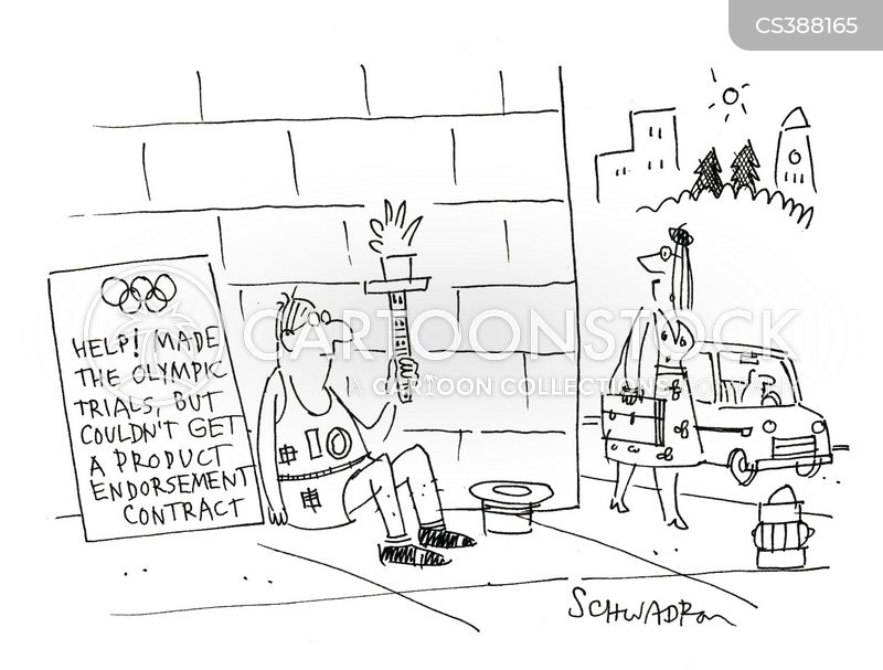 product endorsements cartoon