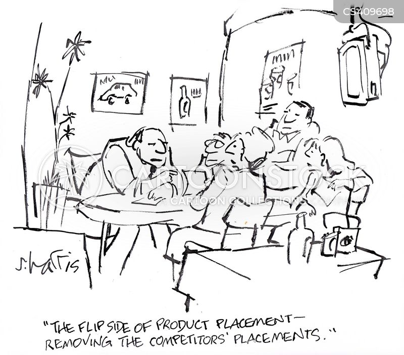 product placement cartoon