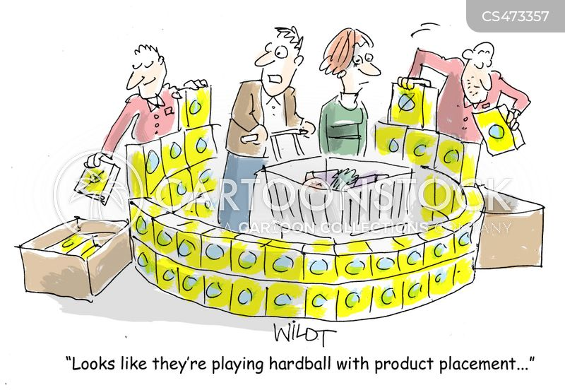 produce placements cartoon