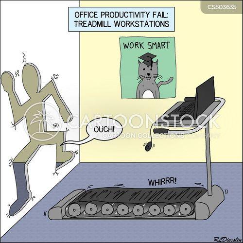 standing desks cartoon