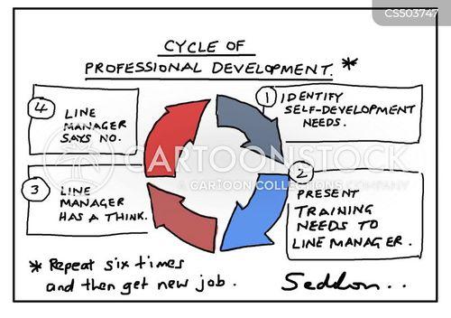 careers advancements cartoon