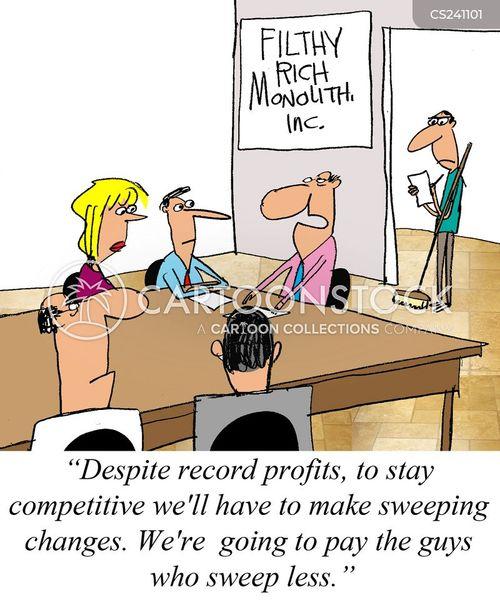pay cuts cartoon
