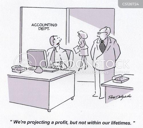 projecting cartoon