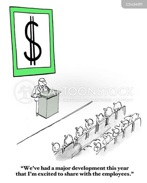 business performance cartoon