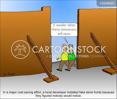 shop fronts cartoon