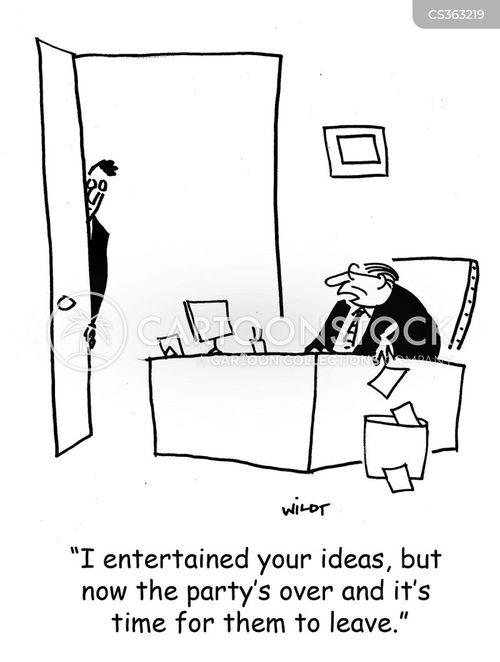 entertained cartoon