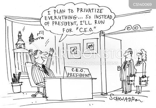 running for president cartoon