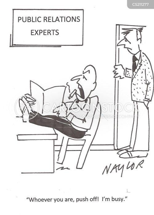 pr expert cartoon