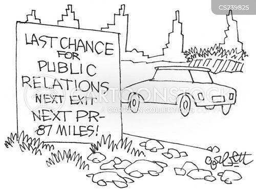 public relations officer cartoon