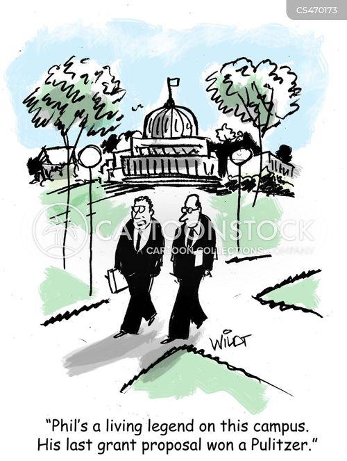 grant writers cartoon