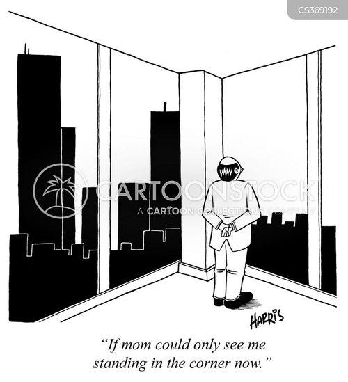 standing in the corner cartoon