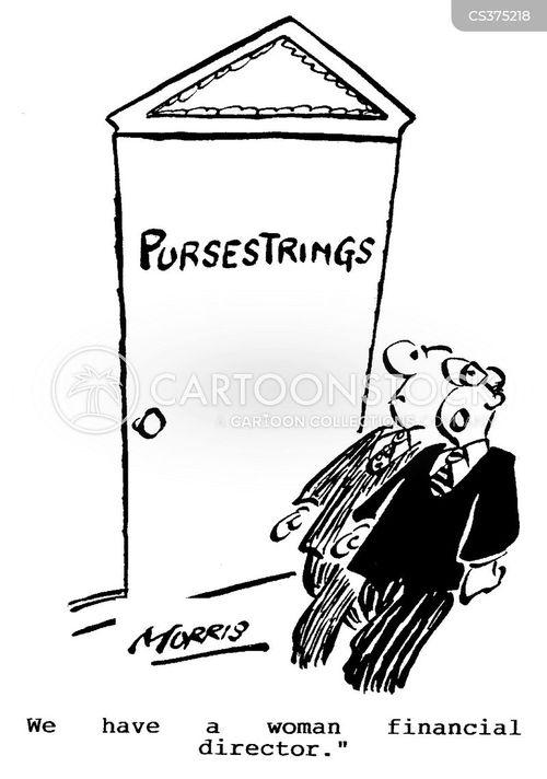 female financial directors cartoon