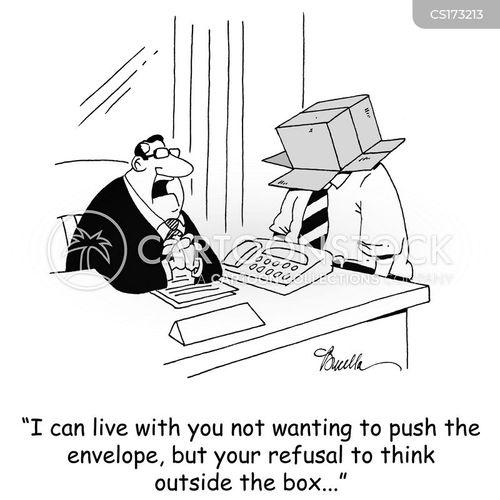 think outside the box cartoon