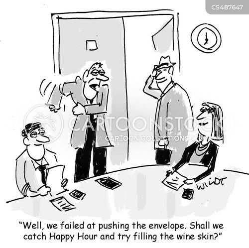 pushing the envelope cartoon
