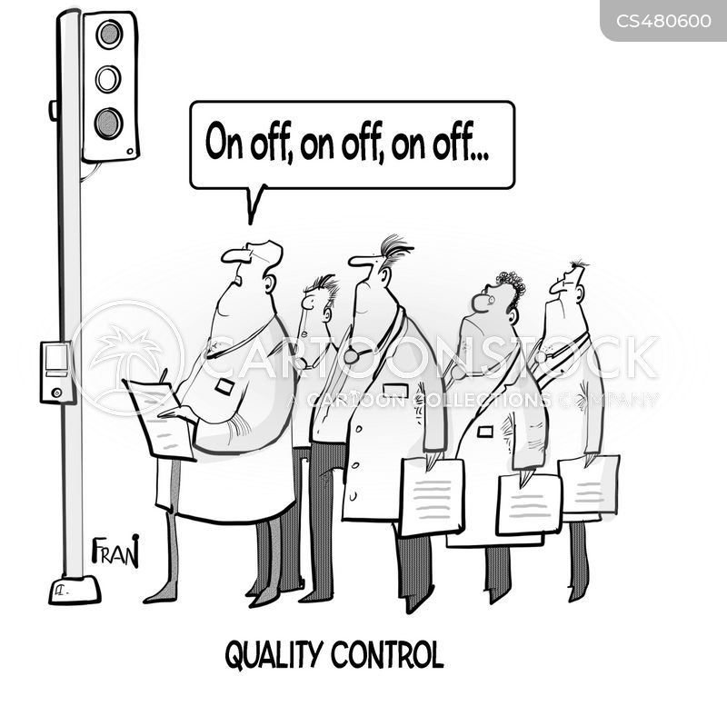 quality checks cartoon