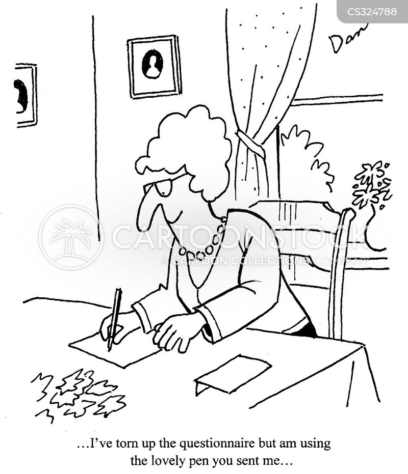 Writing A Letter Cartoon