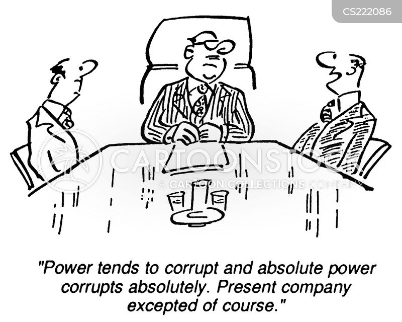 power corrupts cartoon