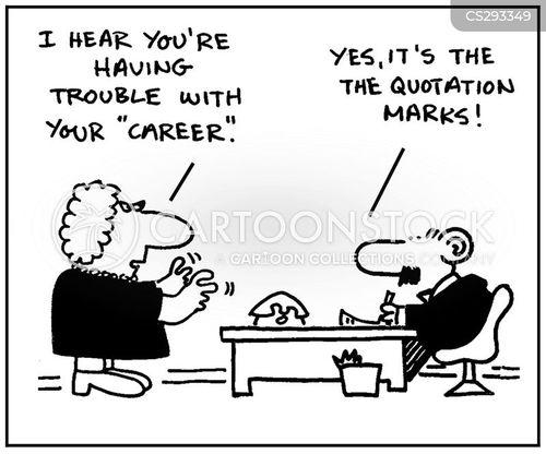 quotation mark cartoon