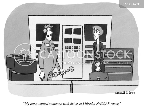 race car driver cartoon
