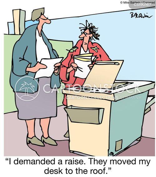 pay increase cartoon