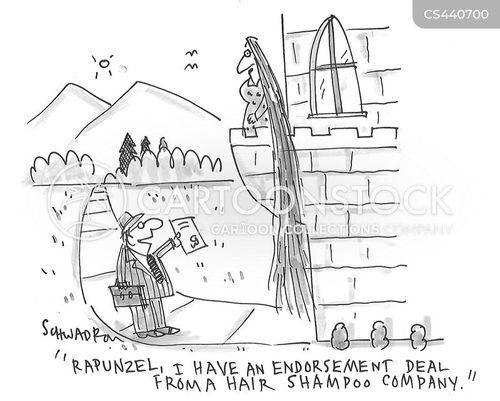 celebrity endorsement cartoon