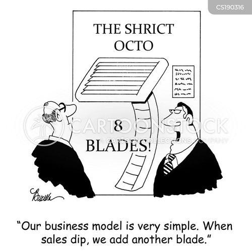 razor blades cartoon