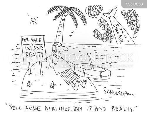 exotic island cartoon