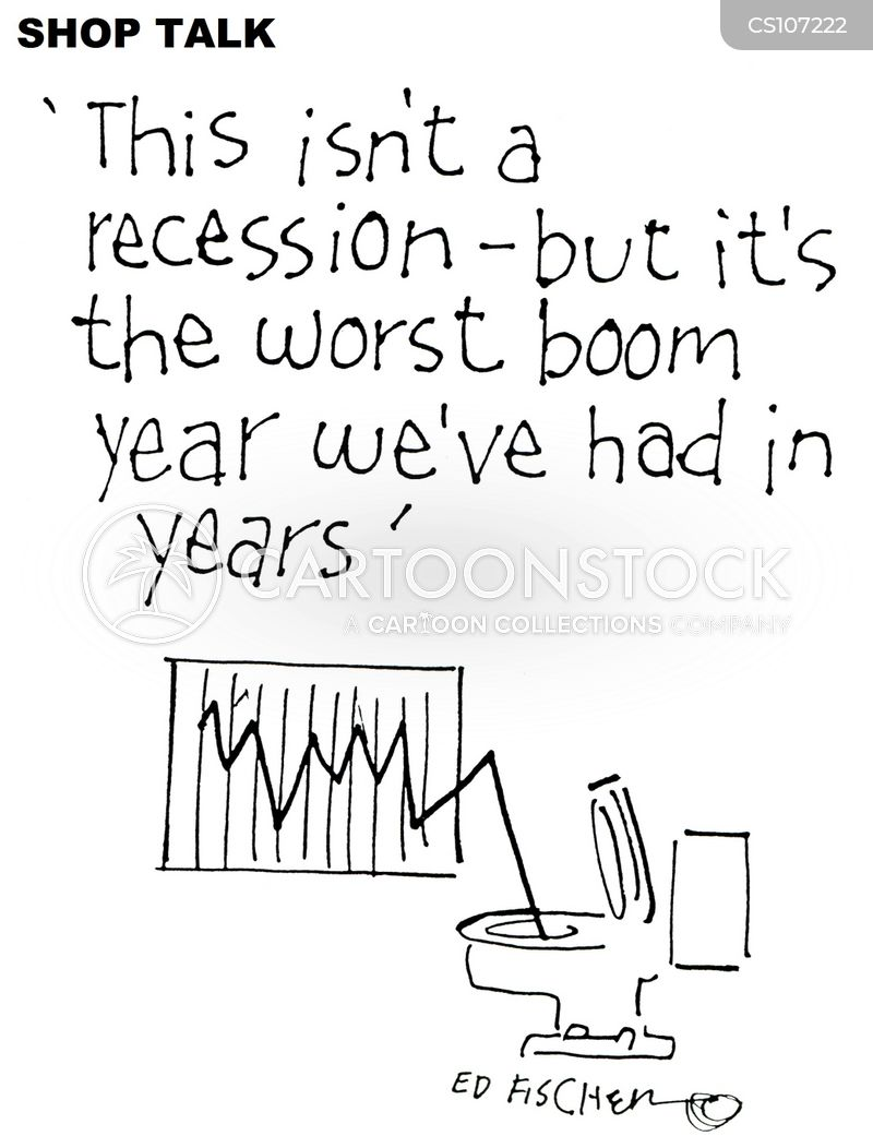double dip recessions cartoon