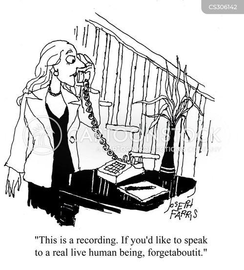 customer support cartoon