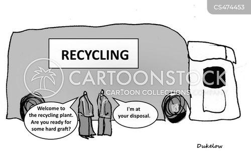 recycling centers cartoon