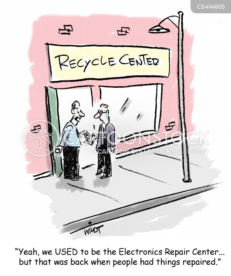 electronic stores cartoon