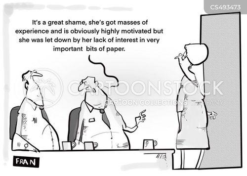 interview technique cartoon