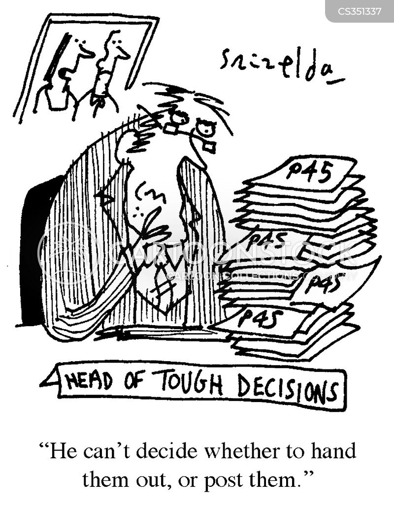 tough decision cartoon