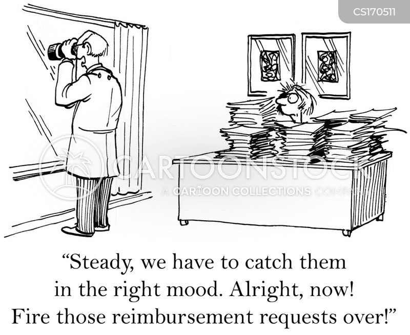 reimbursing cartoon