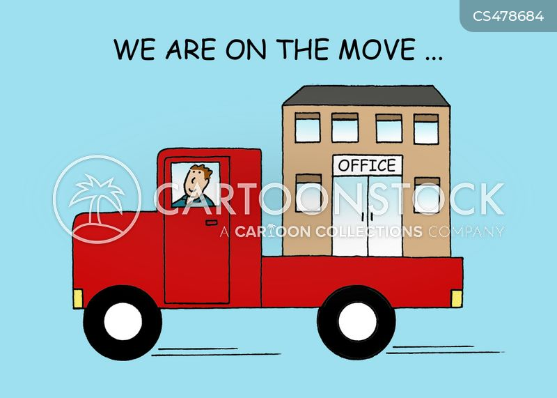 office moves cartoon