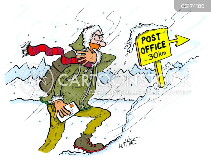 post office cartoon