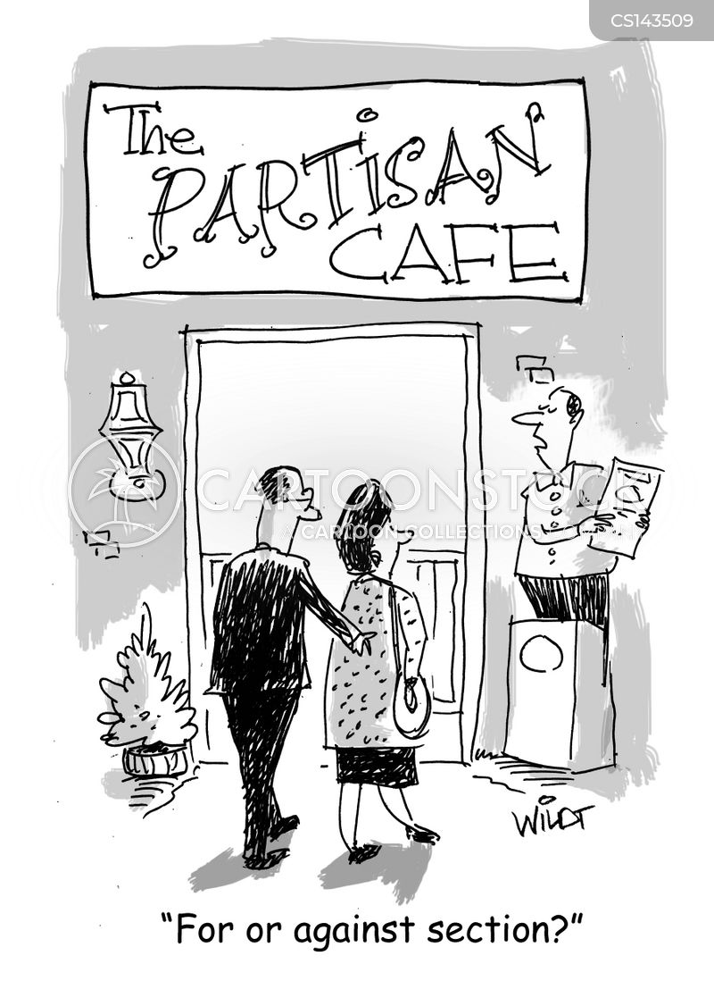 restaurant sections cartoon
