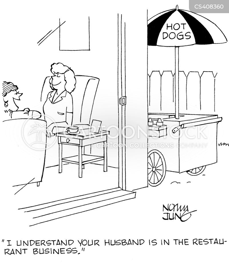 restaurant business cartoon