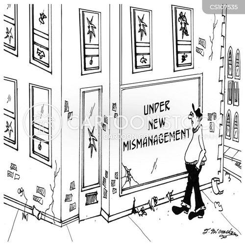 mismanaged cartoon