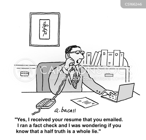Cartoon Resume Fact Checking Henry Kotula