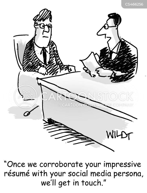 online personas cartoon