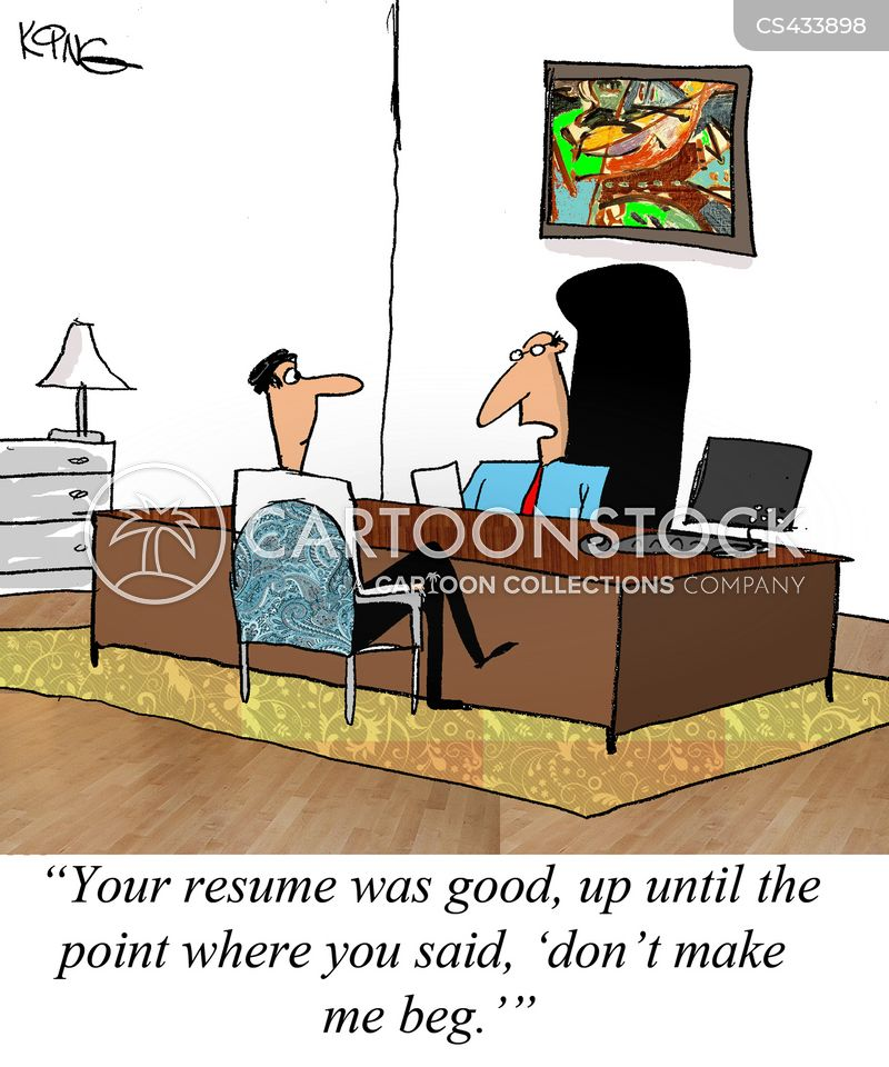 covering letter cartoon