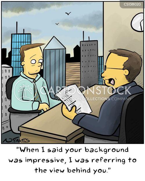 work histories cartoon