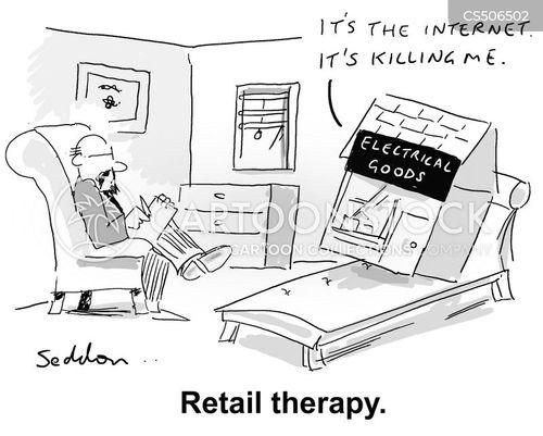 online retail cartoon
