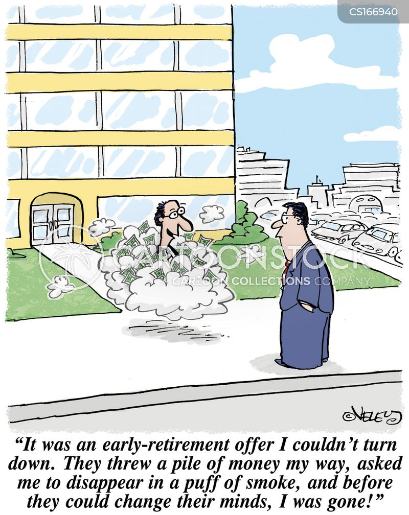 retires cartoon