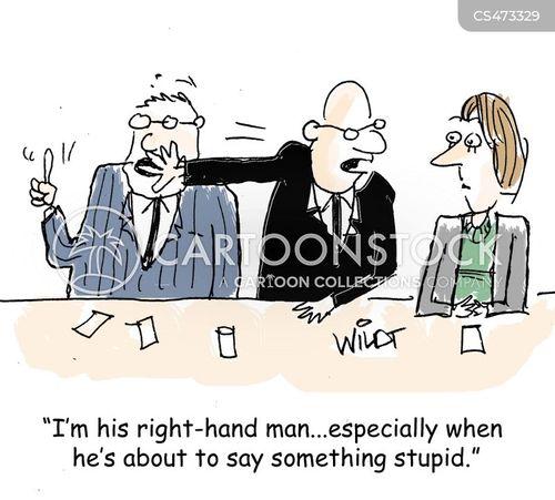right hand man cartoon